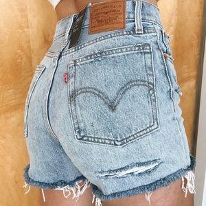 Vintage Levi's Wedgie High Waisted Denim Shorts